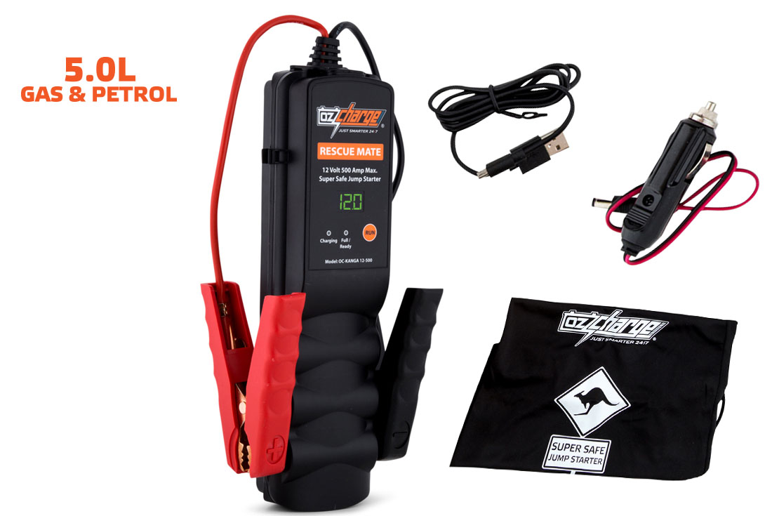 OzCharge RM500 Super Capacitor Jump Starter Accessories